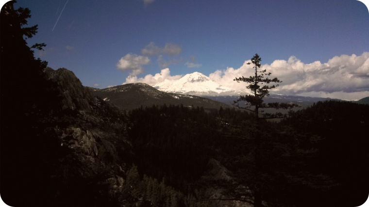 On the way back, the clouds cleared and Shasta came out to play