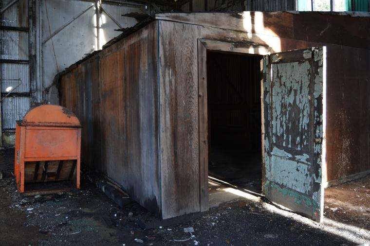 Dunsmuir Engine House creepy storage room:heater