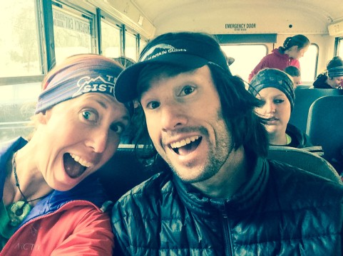Bus ride to the start