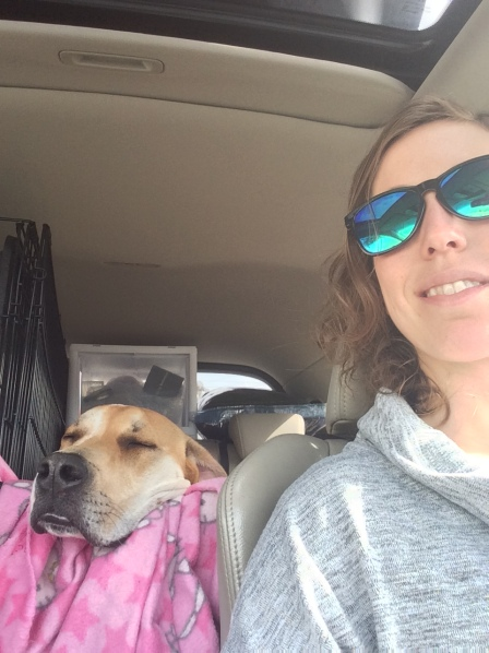 Me and Bruce in the car