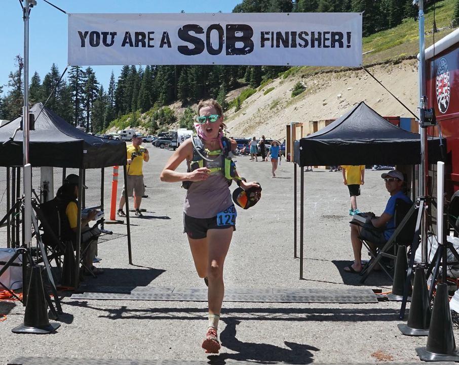 SOB 50k finish line Lauren Steinheimer