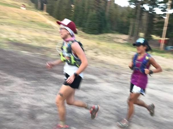 Lauren Steinheimer Megan Bruce blurry Waldo 100k finish
