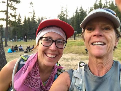 me and Tina teary-eyed Waldo 100k finish