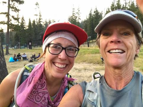me and Tina teary-eyed Waldo 100k finish