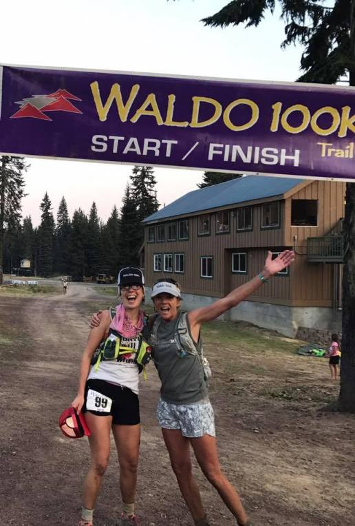Waldo 100k finish line