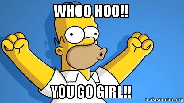 Homer you go girl