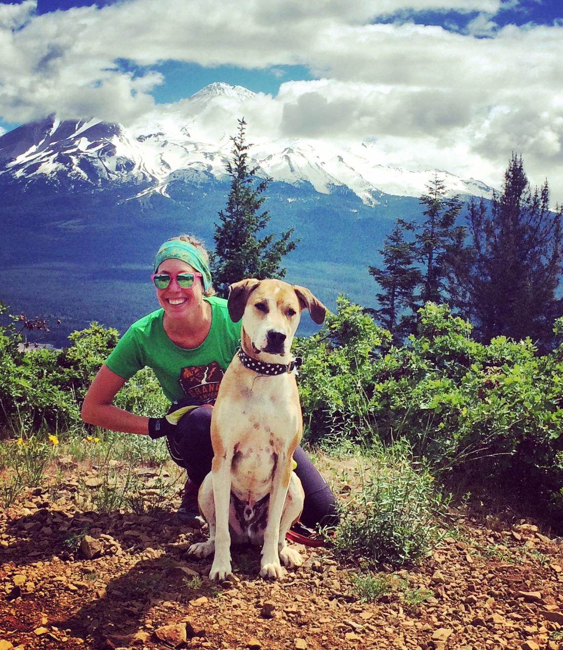 Steinheimer and dog rainbow ridge mt shasta