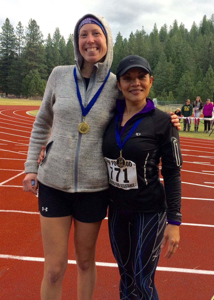 Malou and Lauren Weed Run for Food 2017 age group winners