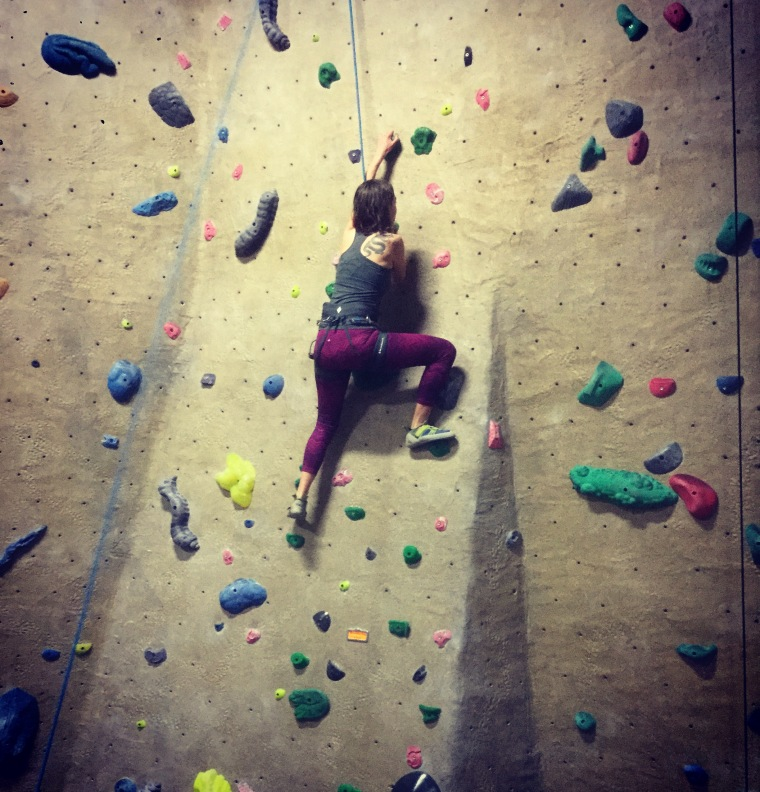 Climbing Rogue Rock Gym
