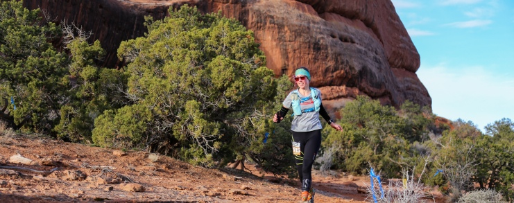 Behind the Rocks trail race in Moab