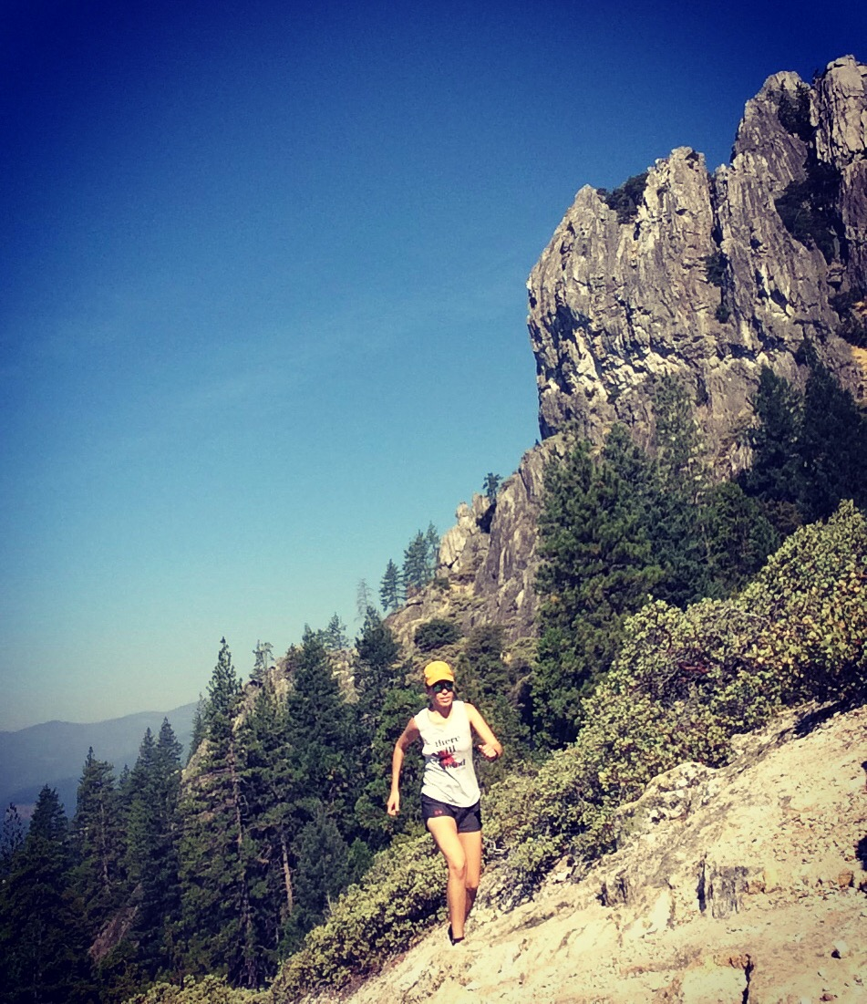 Trail running castle crags