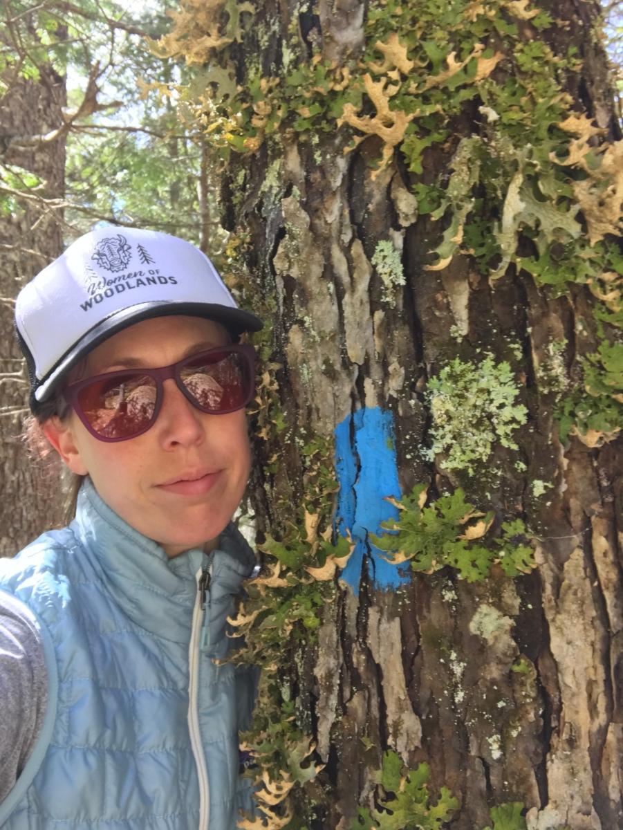 me hugging a tree